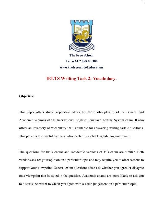 academic writing vocabulary task 2 edtpa