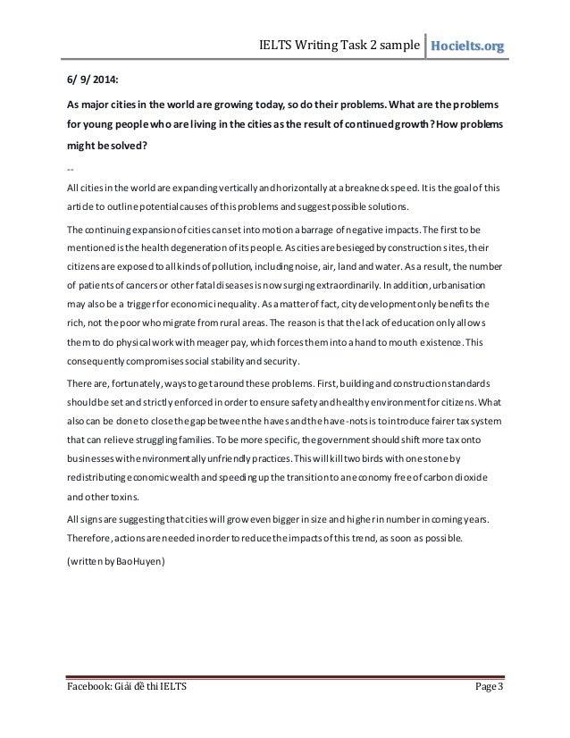 writing essay ielts task 2 sample