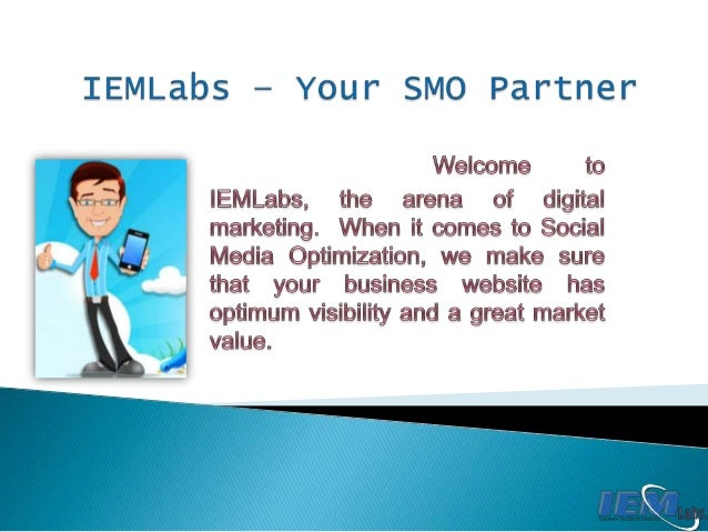IEMLabs places your business websites on top social media platforms like Twitter, Facebook, Digg, Stumble Upon, LinkedIn, ...