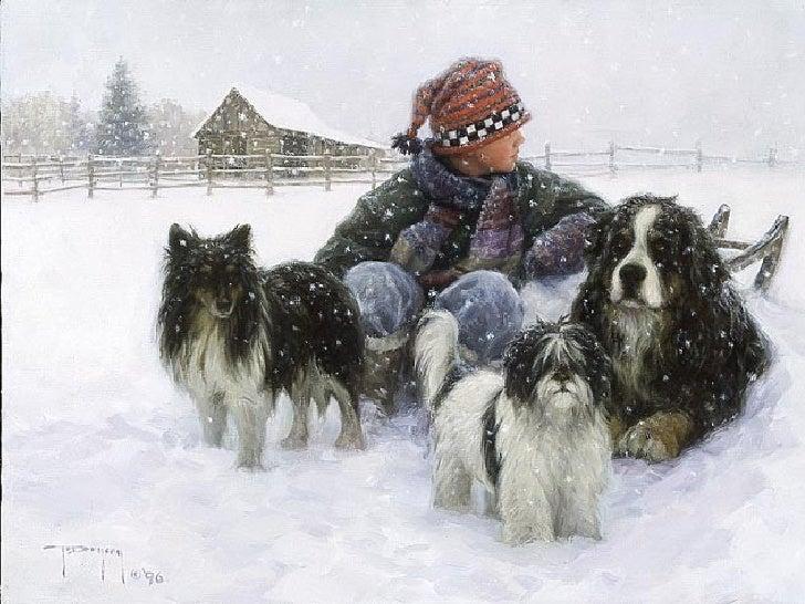 Žiemos vaizdų paveikslai Slide 3