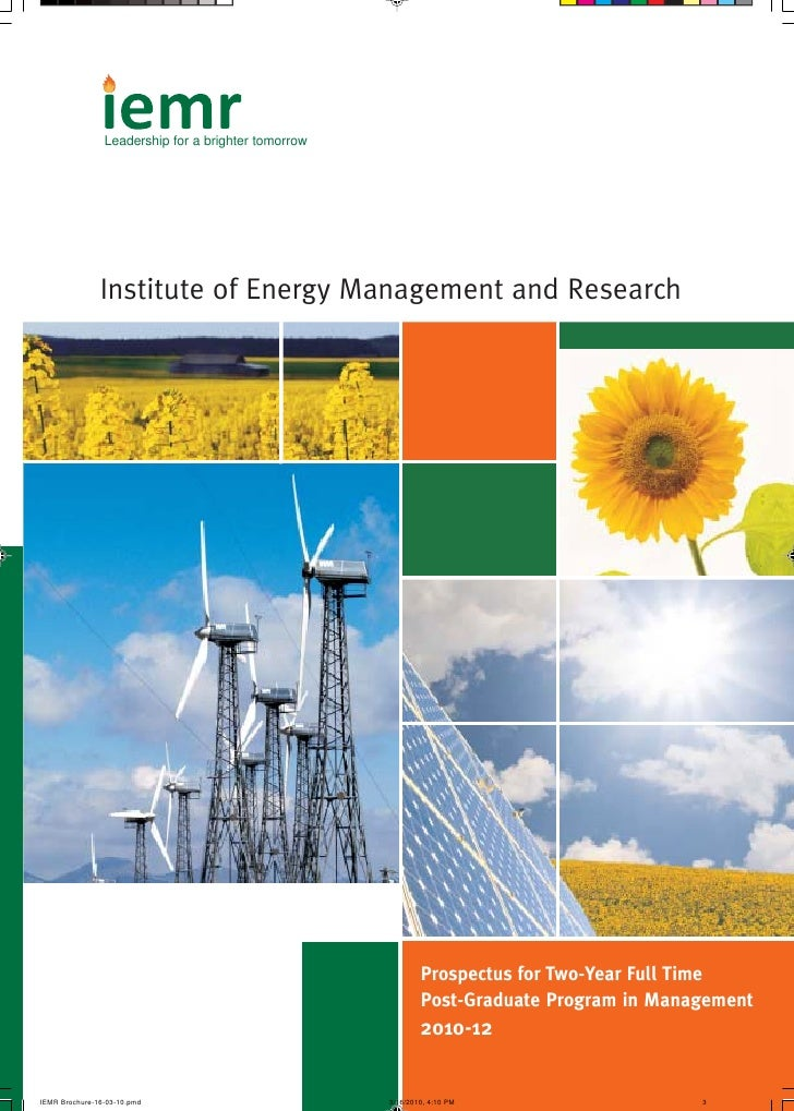 Leadership for a brighter tomorrow     Institute of Energy Management and Research                                        ...