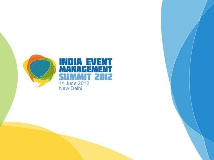 1st June,2012New Delhi