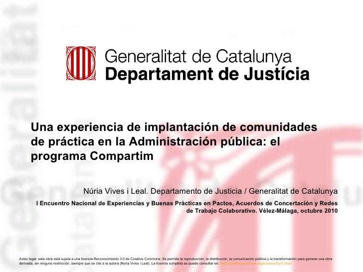 Una experiencia de implantación de comunidades de práctica en la Administración pública: el programa Compartim