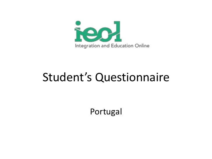 Student'sQuestionnaire<br />Portugal<br />