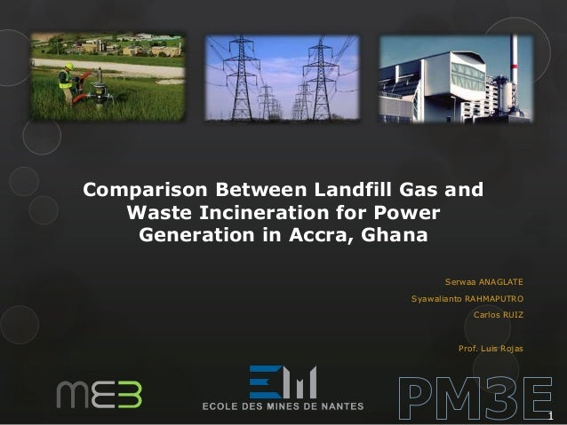 Comparison Between Landfill Gas and Waste Incineration for Power Generation in Accra, Ghana Serwaa ANAGLATE Syawalianto RA...