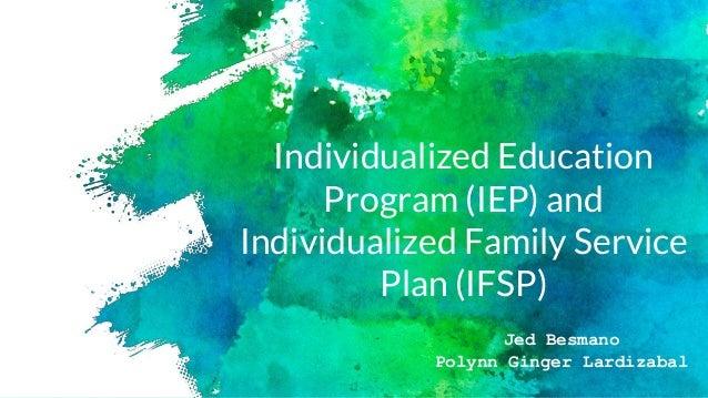 similarities between iep and ifsp