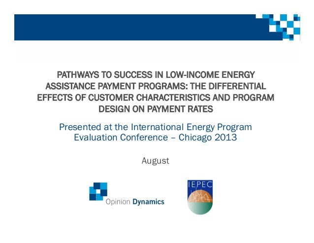 Iepec Pathways To Success In Low Income Energy Assistance