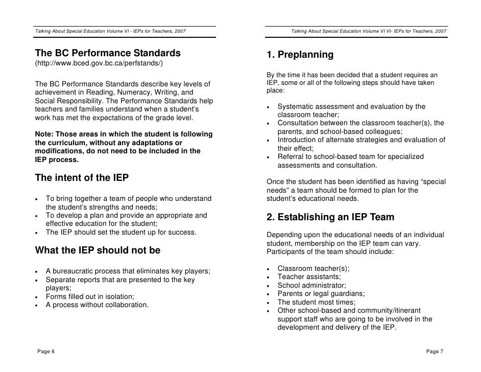 IEP DOCUMENT