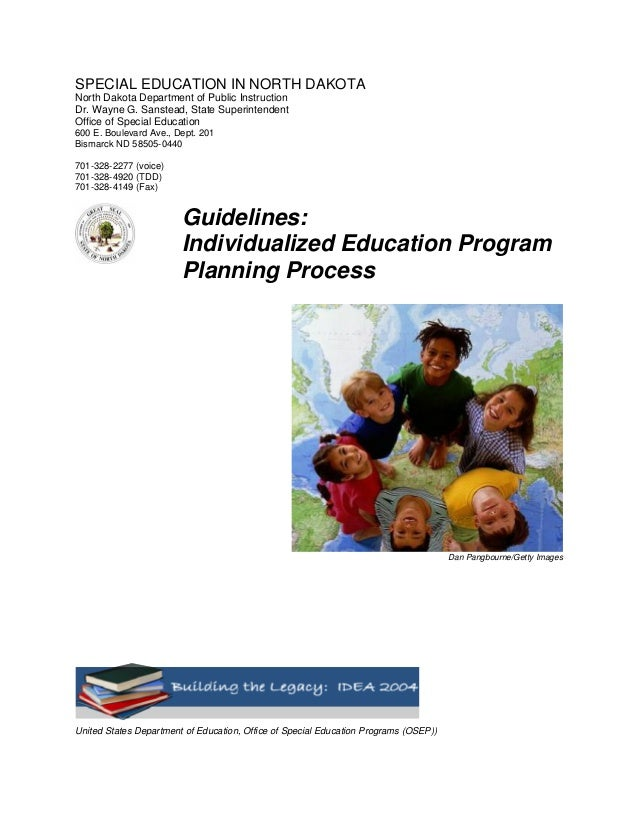 SPECIAL EDUCATION IN NORTH DAKOTANorth Dakota Department of Public InstructionDr. Wayne G. Sanstead, State SuperintendentO...