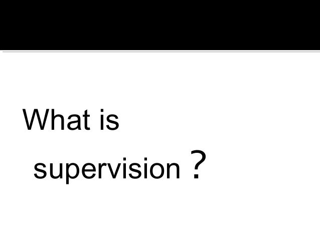 leadership supervision