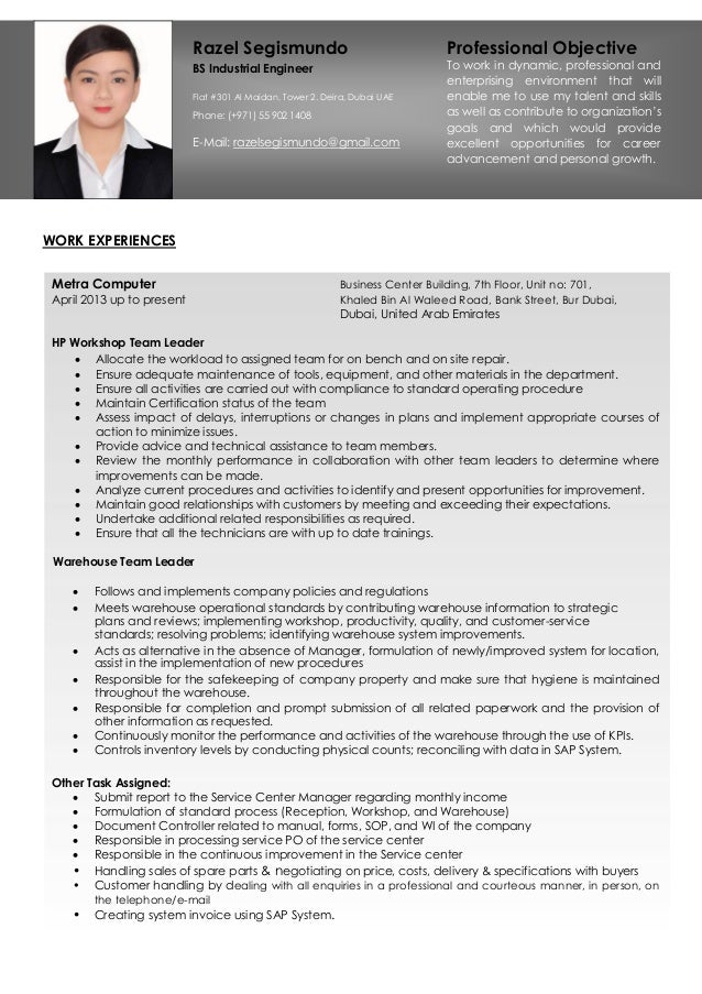 WORK EXPERIENCES Metra Computer Business Center Building, 7th Floor, Unit no: 701, April 2013 up to present Khaled Bin Al ...