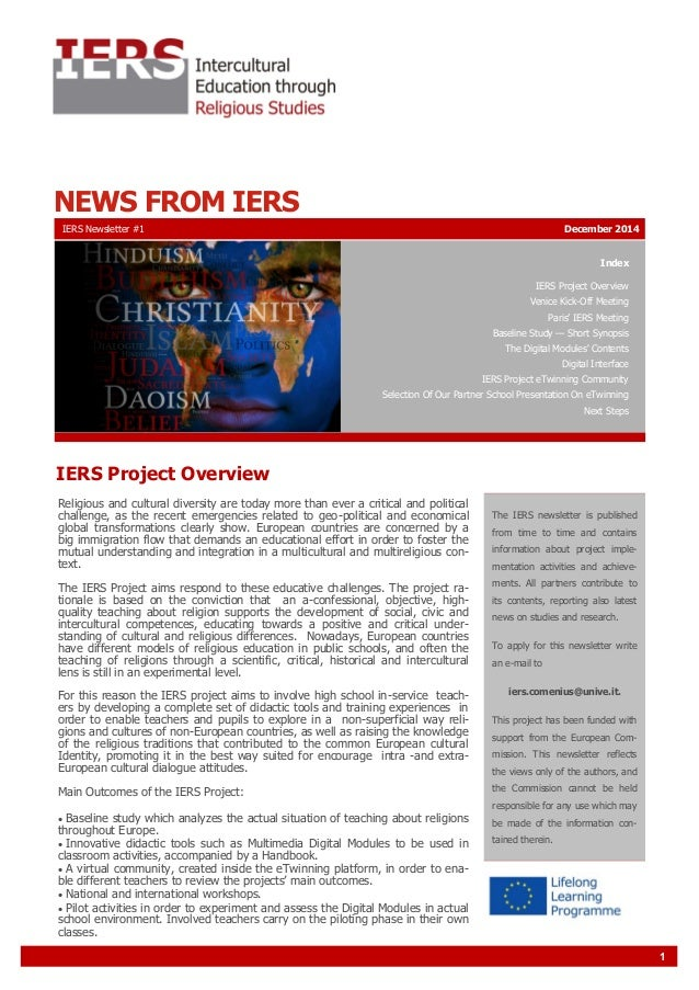 1 NEWS FROM IERS Index IERS Project Overview Venice Kick-Off Meeting Paris' IERS Meeting Baseline Study — Short Synopsis T...