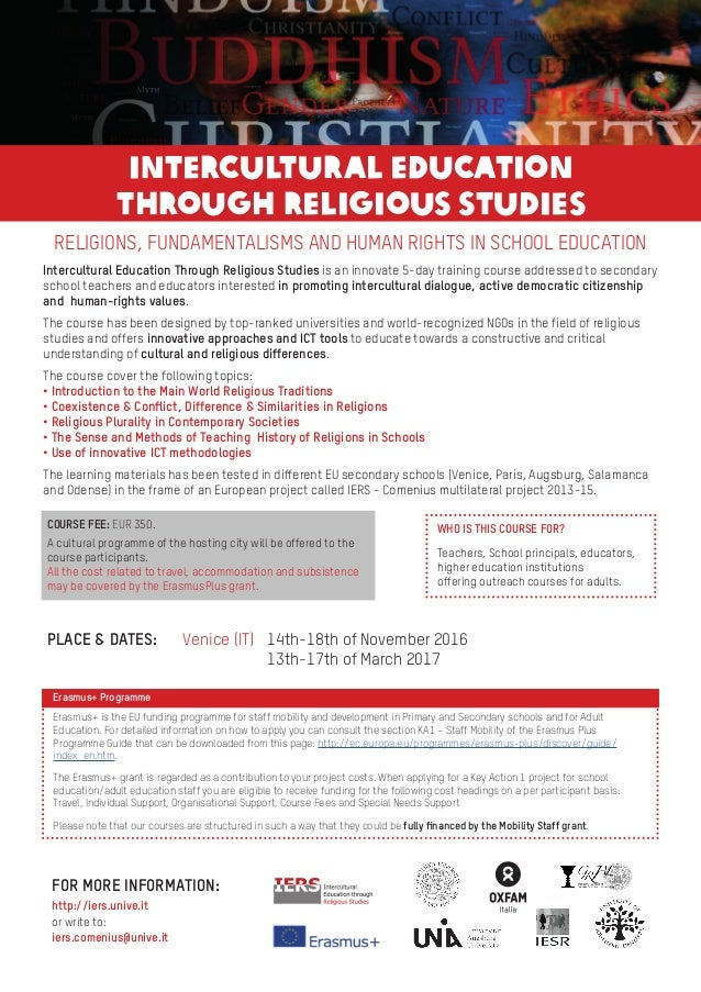 RELIGIONS, FUNDAMENTALISMS AND HUMAN RIGHTS IN SCHOOL EDUCATION Intercultural Education Through Religious Studies is an in...