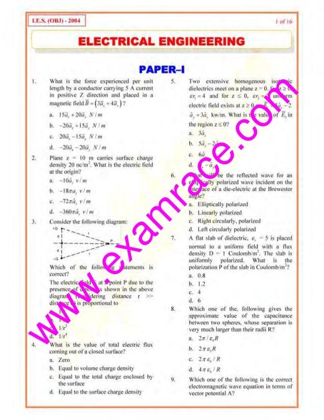 Ies electrical-engineering-paper-1-2004