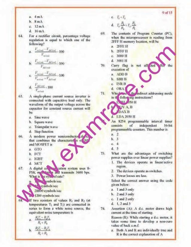 Ies Electrical Engineering Paper 2 2008