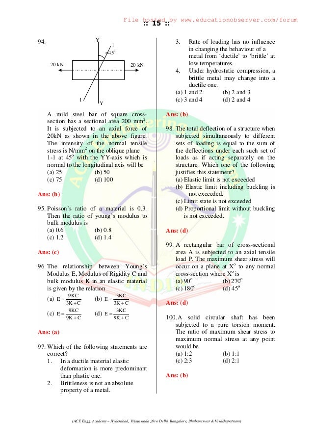 civil engineering objective questions pdf