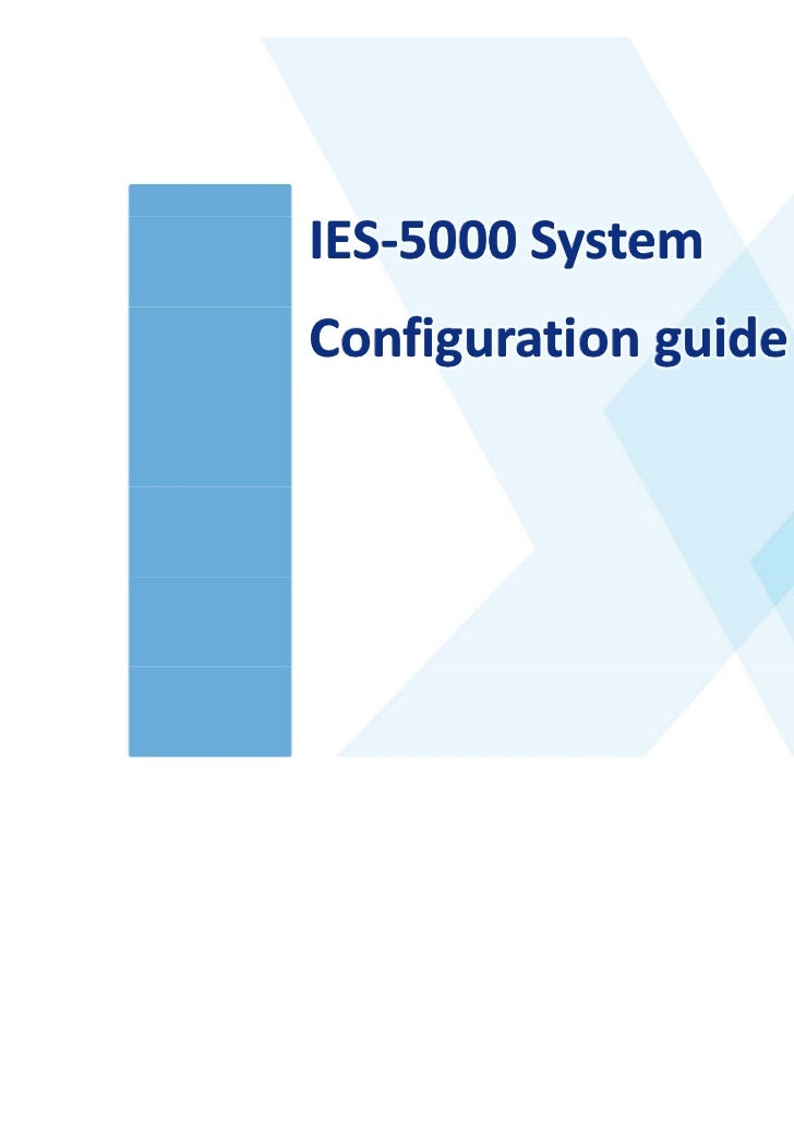 •www.adcom.co.thIES‐5000 SystemConfiguration guide                      •Advanced Comm Co., Ltd.