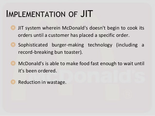 """mcdonalds inventory system What is inventory control  some refer to it as """"internal control"""" or even as an accounting system set up to safeguard assets."""