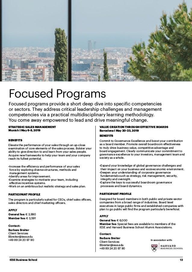 Iese Munich Campus 2019 Portfolio