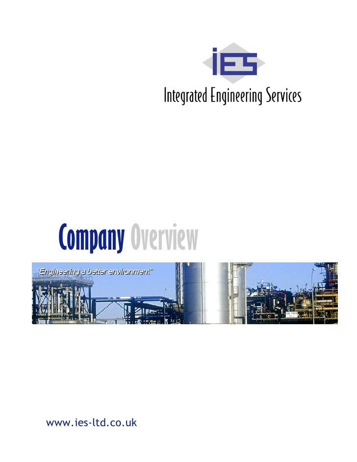 Company Overview     www.ies-ltd.co.uk