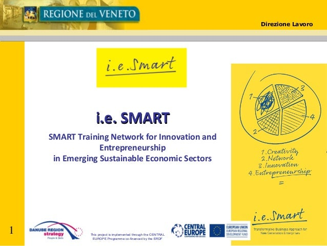 Direzione Lavoro  i.e. SMART SMART Training Network for Innovation and Entrepreneurship in Emerging Sustainable Economic S...