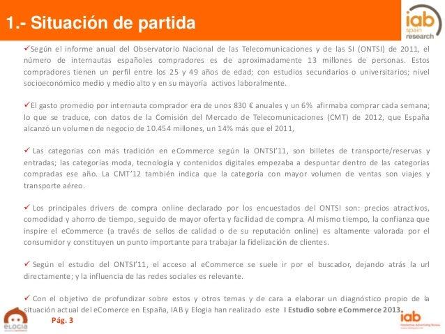 I Estudio anual sobre eCommerce en España de IAB Spain con Elogia Slide 3