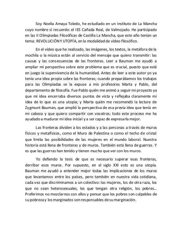 Soy Noelia Amaya Toledo, he estudiado en un instituto de La Mancha cuyo nombre sí recuerdo: el IES Cañada Real, de Valmoja...