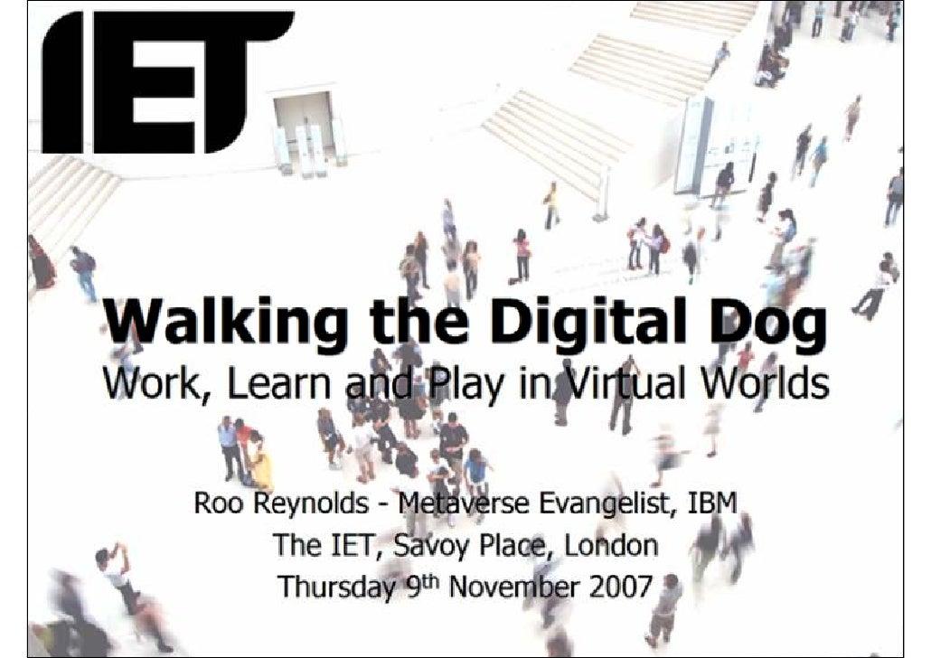 IET Mountbatten Lecture 2007 - Roo Reynolds
