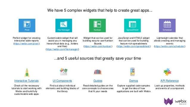 Webix UI JavaScript Library Product Presentation 2017