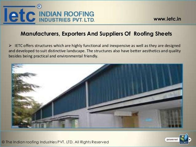 Roofing Sheet Manufacturers in Coimbatore, Tirupur, Chennai, Tamilnadu