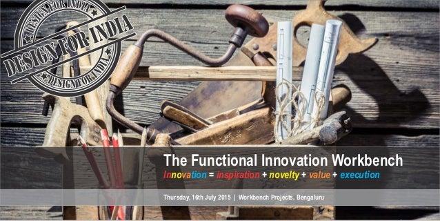 nova =  + novelty + value + execufion  Thursday,  16th July 2015    Workbench Projects,  Bengaluru     ,  ' A I .  <  ¢ . ...