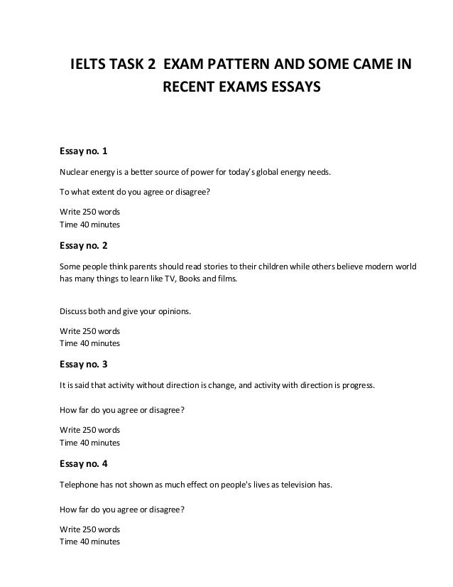 Academic Writing Exam Questions