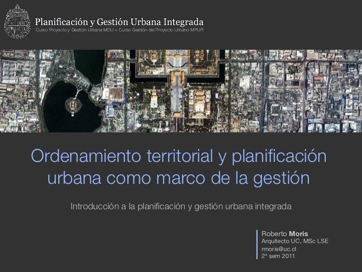 Curso Proyecto y Gestión Urbana MDU + Curso Gestión del Proyecto Urbano MPUROrdenamiento territorial y planificación  urban...