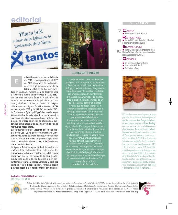 Iglesia en Valladolid: 2ª quincena abril Slide 2