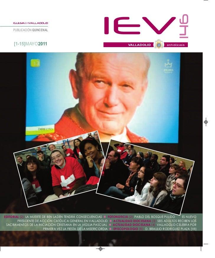 146     IGLESIAENVALLADOLID     PUBLICACIÓN QUINCENAL      [1-15]MAYO2011                                                 ...