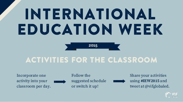 international education week 2015 activities for the classroom