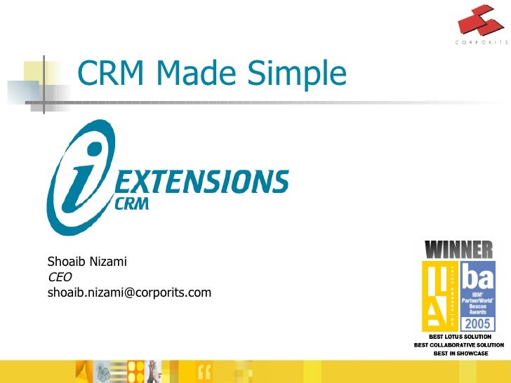CRM Made Simple Shoaib Nizami CEO [email_address]