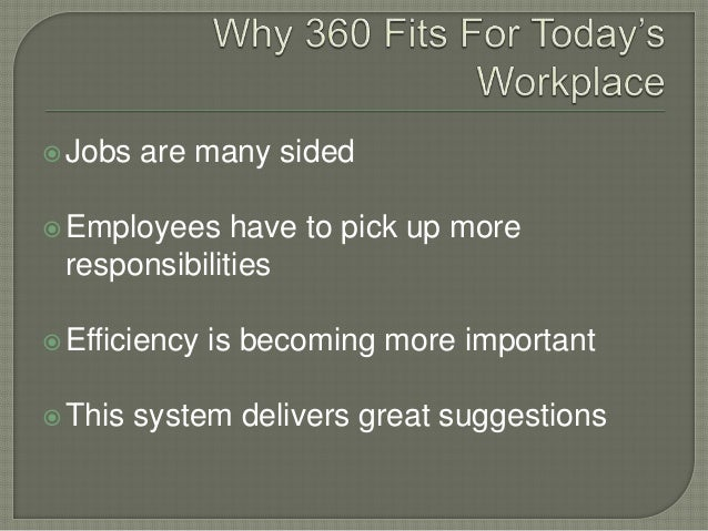 thesis on 360 degree feedback At landon, the supervisors collected 360-degree feedback for all the employees the 360-degree feedback included feedback from three ways: downward from.