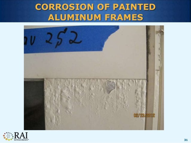 31 CORROSION OF PAINTED ALUMINUM FRAMES