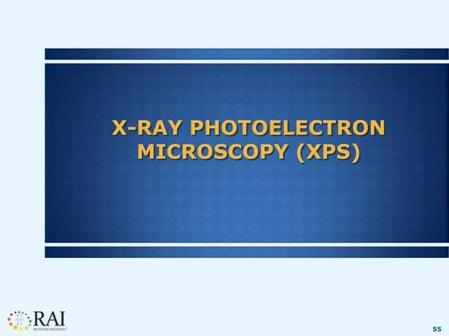 55 X-RAY PHOTOELECTRON MICROSCOPY (XPS)