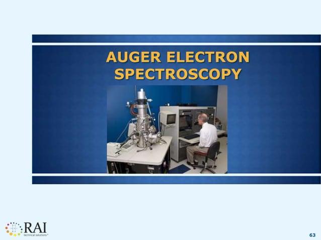 63 AUGER ELECTRON SPECTROSCOPY