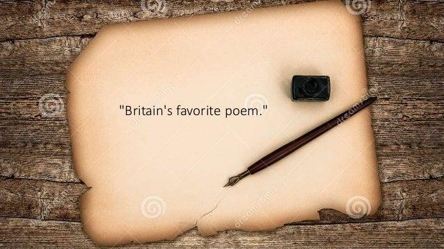 """Britain's favorite poem."""