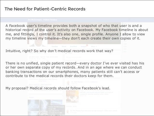 If Facebook Designed Medical Records Slide 2
