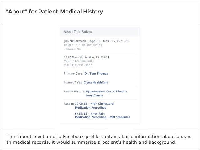 If Facebook Designed Medical Records Slide 3