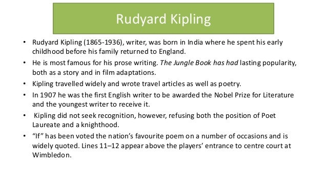 "explication of rudyard kipling s if Analysis of rudyard kipling's ""the rudyard kipling's ""the bridegroom analysis of ""if"" by rudyard kipling explication essay of ""cities and."