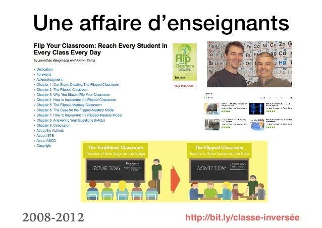 Les classes inversées, effet de mode pédagogique ou phénomène de l'école précurseur de l'école de demain Slide 3