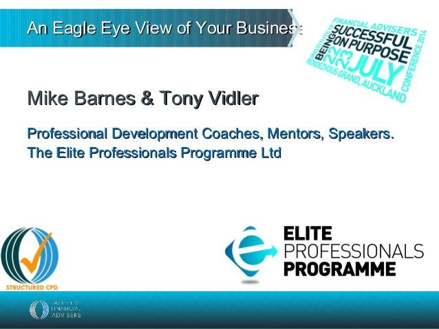An Eagle Eye View of Your Business…An Eagle Eye View of Your Business… Mike Barnes & Tony VidlerMike Barnes & Tony Vidler ...