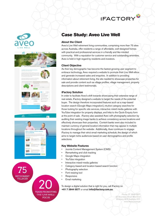 Case Study: Aveo Live Well by iFactory