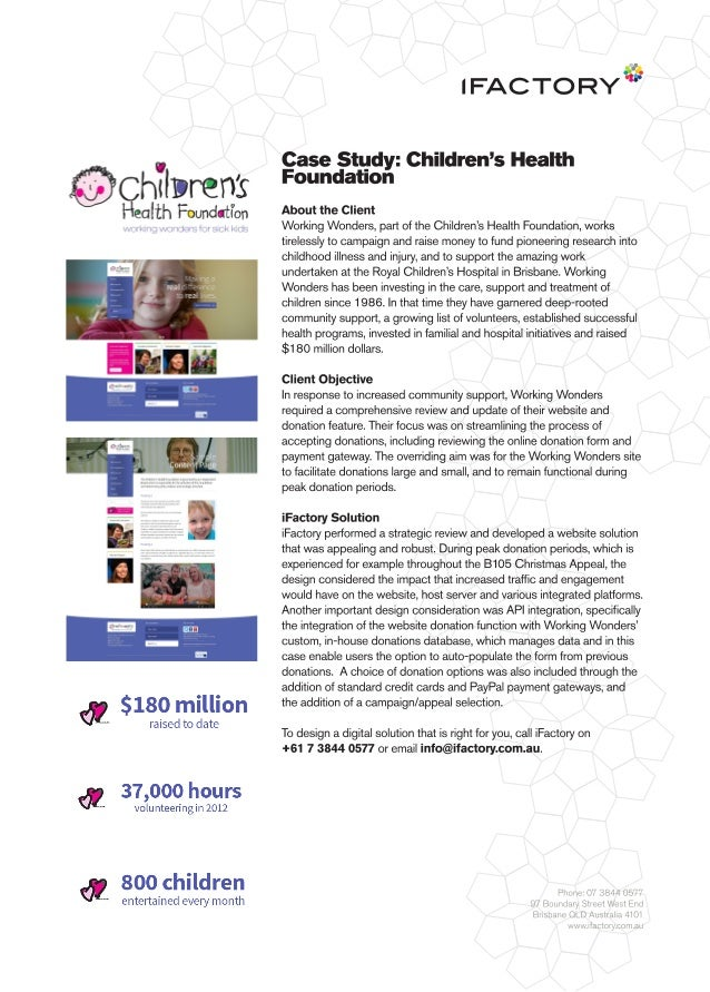 Case Study: Children's Health Foundation by iFactory