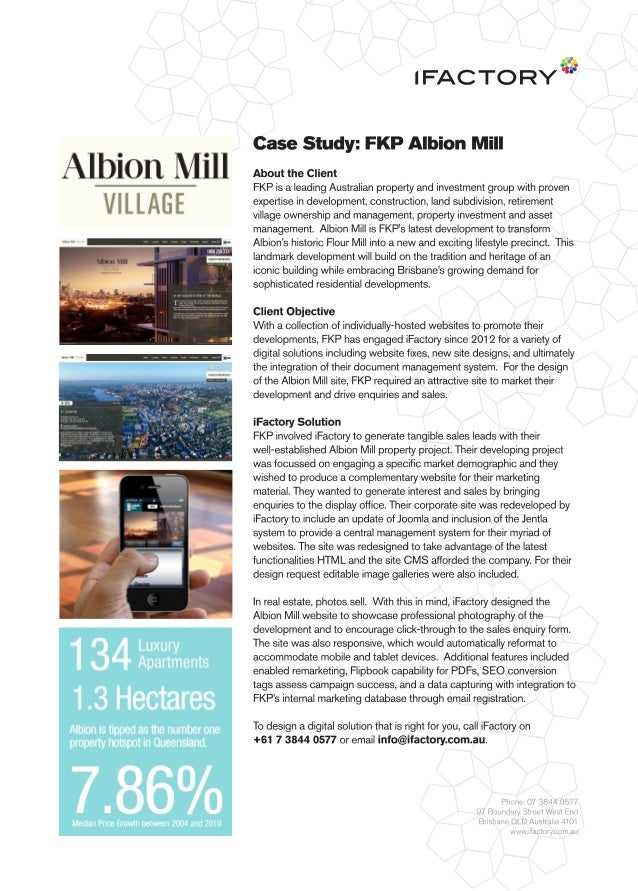 Case Study: FKP Albion Mill by iFactory